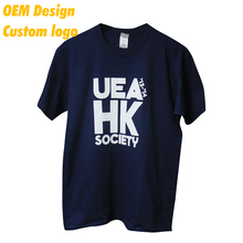 Manufacturer High quality Elestic Patch Euro size Label design Navy Blank Men Tshirt for Children