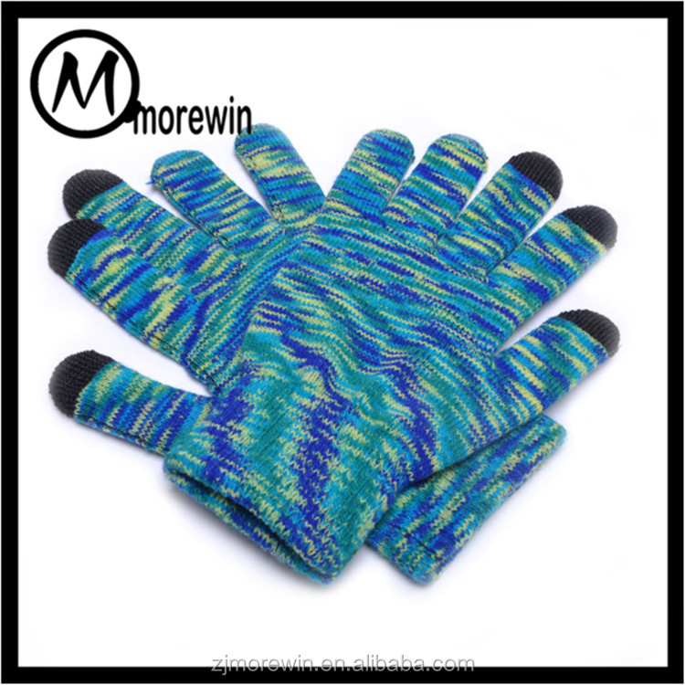 Morewin Brand promotion gifts hot sale touch screen gloves women men colorful hand gloves