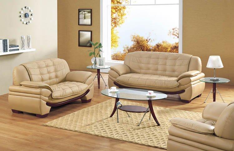 Modern Leather Sofa Set Camel