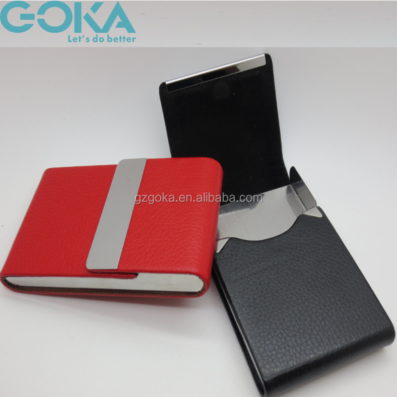 Promotion Leather Business Card Holder/high Quality Pu Business ...