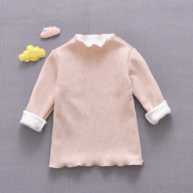 New winter children's knitted cashmere thickened pullover