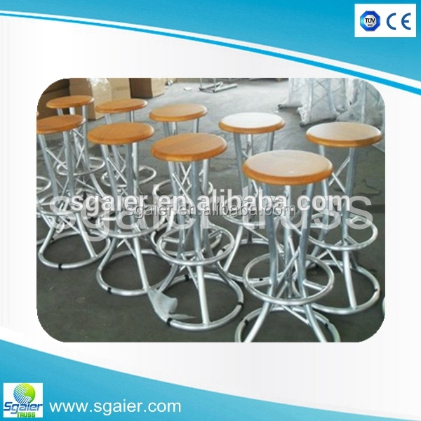 New design high quality aluminum wood bar furniture stool chair