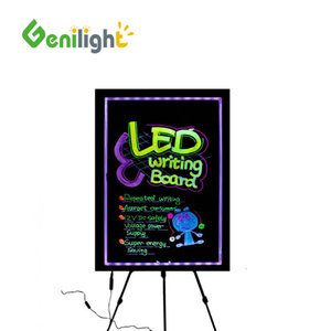Hand colorful high quality led writing board with marker pen