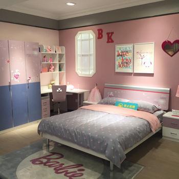 3d Printing Color Mdf Kids Bedroom Furniture Sets Girl Bed Beside