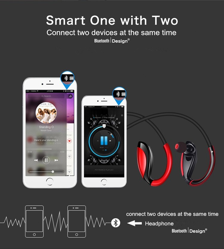 Stereo Bass Wireless Headset Expand 3D Shock Surrouding Bluetooth Headphone
