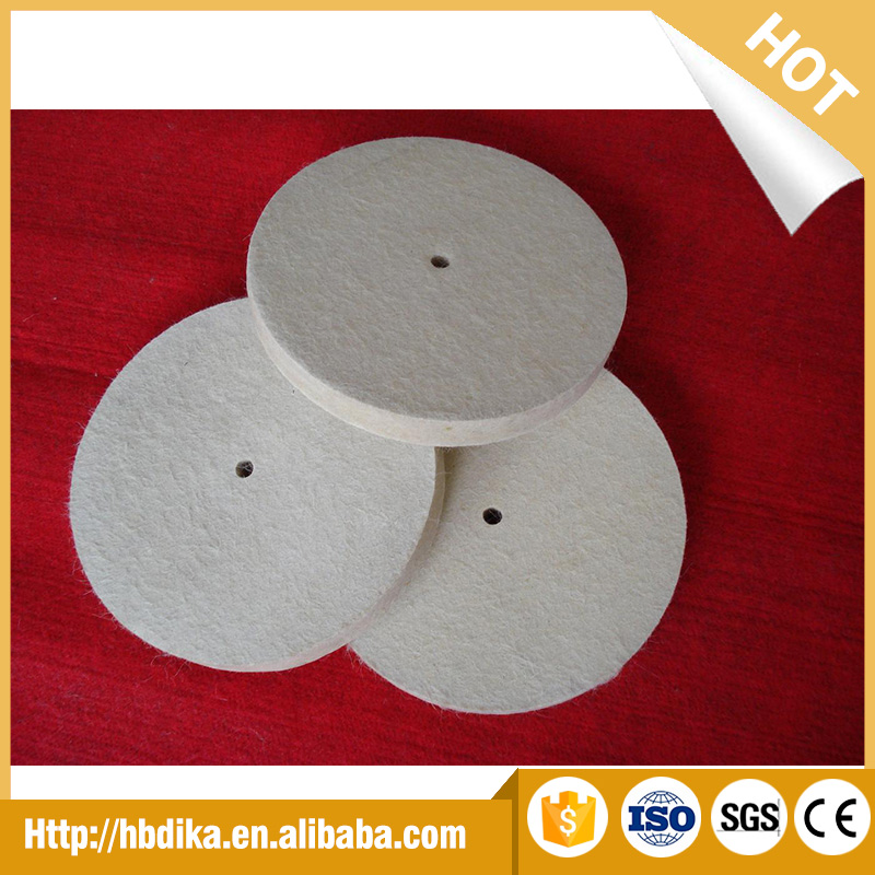 Hot sell 100% Wool Felt Buffing Wheels for polishing and smoothing