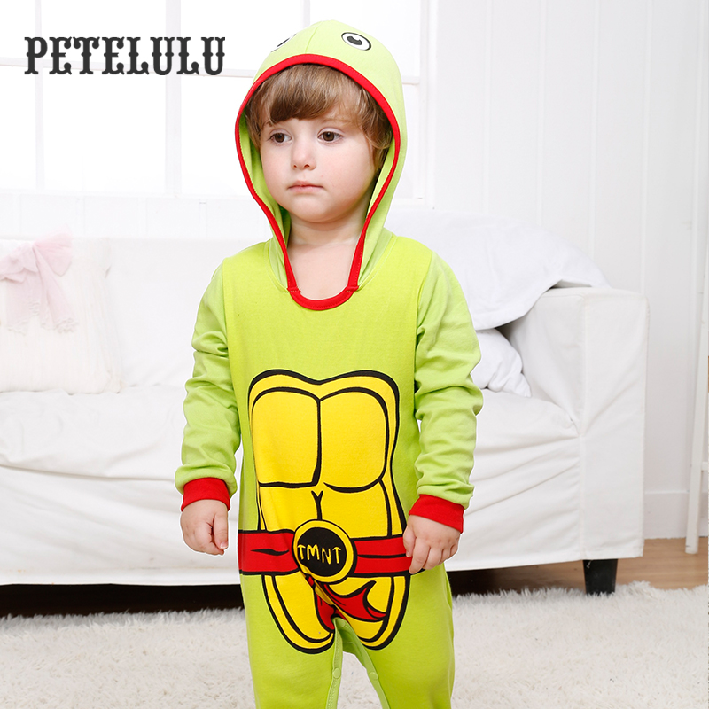 Turtle Man Footed Winter Home Wear Hooded Baby Clothes Wholesale Price China