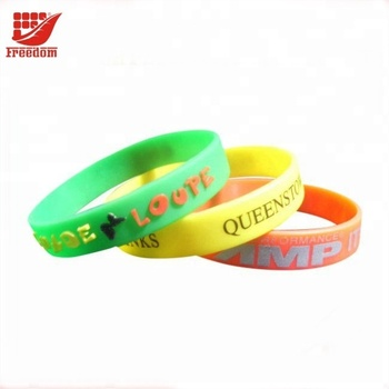 Give Away Logo Printed Silicone Wristbands