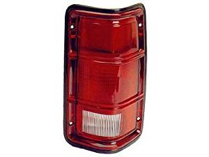 DRIVER SIDE TAIL LIGHT Dodge D100, Dodge D150, Dodge D250, Dodge D350, Dodge Ramcharger, Dodge W100, Dodge W150, Dodge W250, Dodge W350 ASSEMBLY; WITH BLACK TRIM