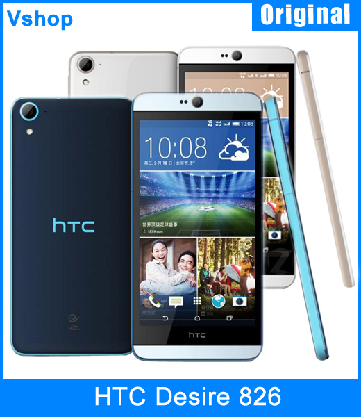 Original HTC Desire 826 16GBROM 2GBRAM 5 5 inch Android 5 0 Qualcomm  MSM8939 Quad Core Mobile Phone 4G LTE Dual SIM Refurbished