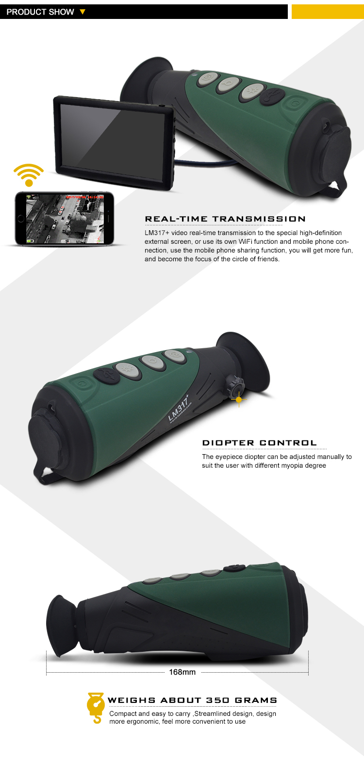 LMIR Monocular Night Vision Infrared Thermography Camera Imager for hunting