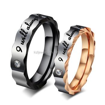 fashion stainless steel biker wedding rings gear lettering rings for lovers wholesale - Biker Wedding Rings
