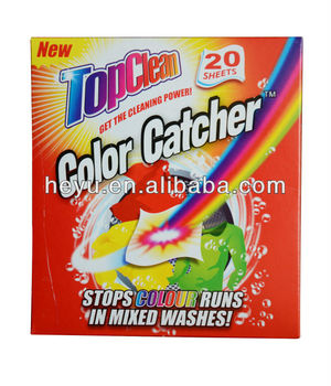 Best Selling Mixed Washing Helper Magnetic Color Catcher Sheets With ...
