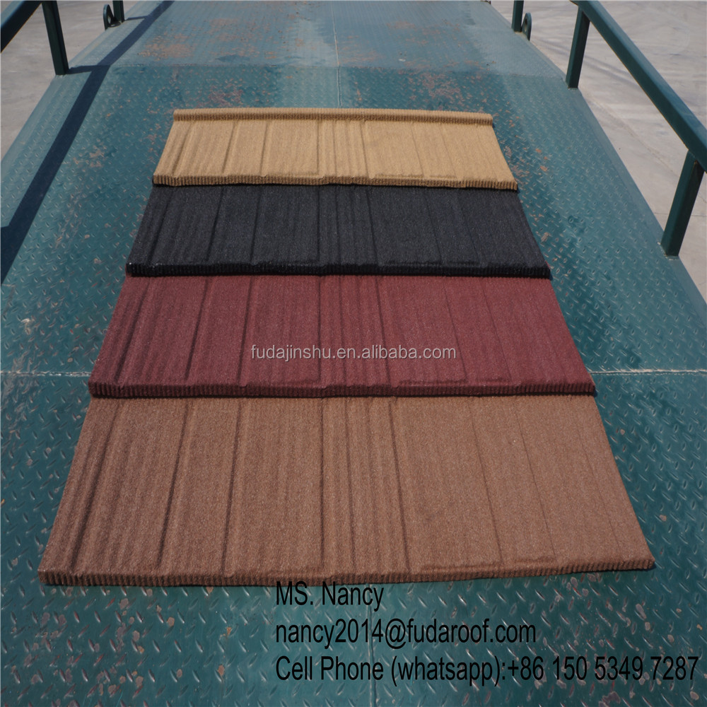 wood design stone coated steel roof shingle competitive in Philippines market