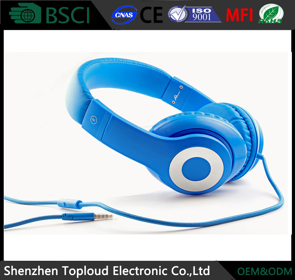 Factory high quality computer accessories bass headphone/ mp3 headphone/ sport earphone for iphone mobile phone