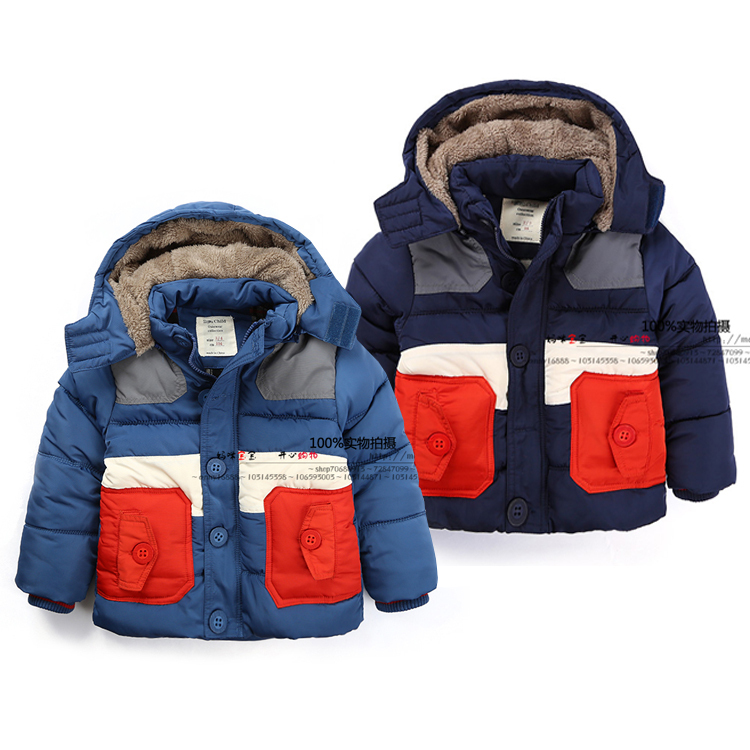Free shipping New 2014 winter baby clothing childern outerwear thickening kids down coats and jacket for