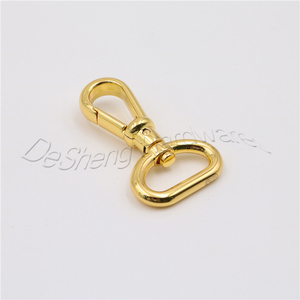 Fashion Custom Clasp d Ring Rose Gold Snap Hook For Handbags