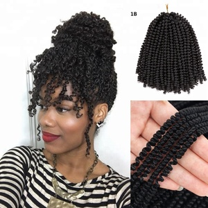 Synthetic Fluffy Nubian Twist Bulk Jamaican Bounce Spring Twist Crochet Braiding Hair Extensions