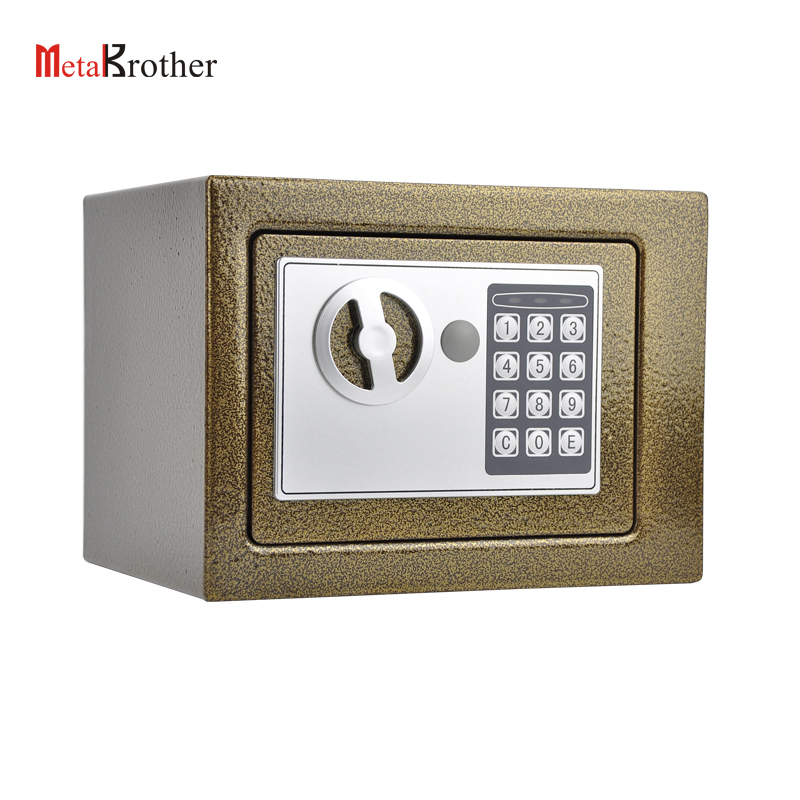 Electronic Portable Home Beach Safe Box For Children Metal Security Hotel Fire Proof Mini Safe Box Wholesale