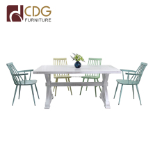 Ergonomic French style dining furniture / kitchen table set / tables and chairs for events