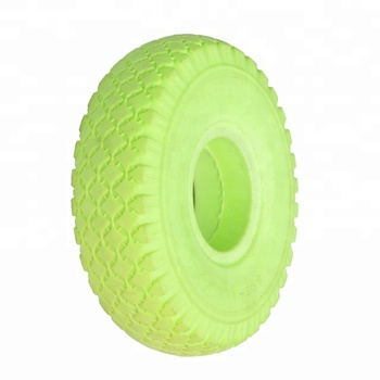 10 Inch 3.00-4 Polyurethane Flat Free Golf Cart Wheels And Tires