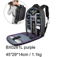 Backpack factory custom Waterproof 840D Nylon Multi-functional camera bag with plus a tripod