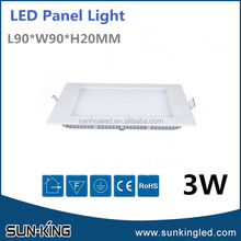 Fashionable promotional recessed ceiling led smd2835 panel light 3W