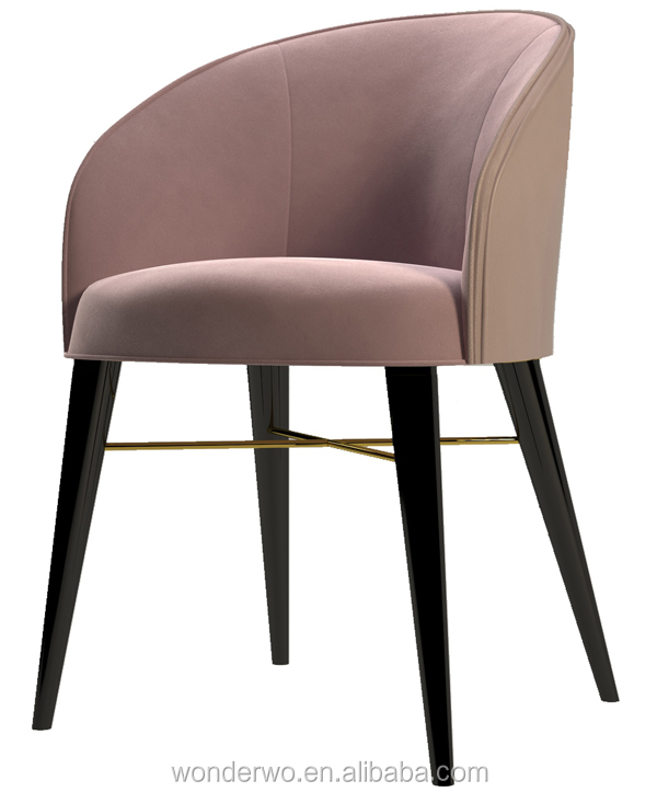 Astonishing Ottiu Ingrid Dining Chair Modern Hollywood Curved Frame Contrasting Leather Back Armchair Restaurant Furniture Buy Chair Dining Chair Restaurant Bralicious Painted Fabric Chair Ideas Braliciousco