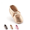 F10100E Pure color baby tassel shoes china wholesale soft sole flat baby shoes