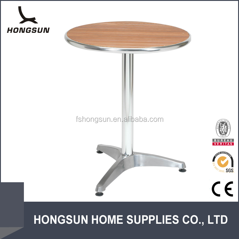 Aluminum Frame Outdoor Round Polywood Dining Table