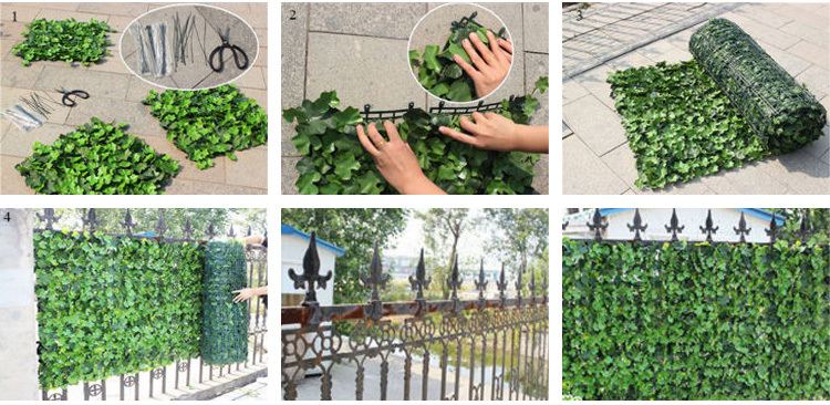 Synthetic Balcony Privacy Screen Artificial Vine Leaves