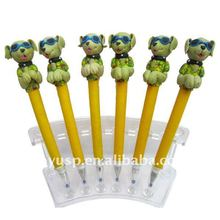 new cute and colorful dog ball pen office stationery gift pen for promotion