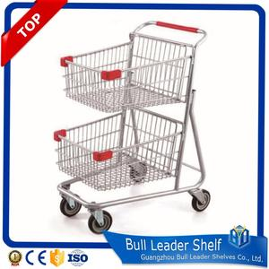 Double Layer Canada Shopping Cart Trolley