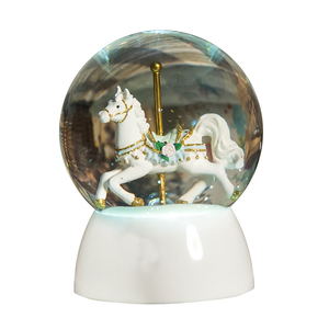 LED light Water globe home decor Carousel snow globe Crafts gifts led snow globe