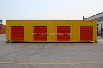Rolling Shutter Door 40ft High Cube Side Open Storage Shipping