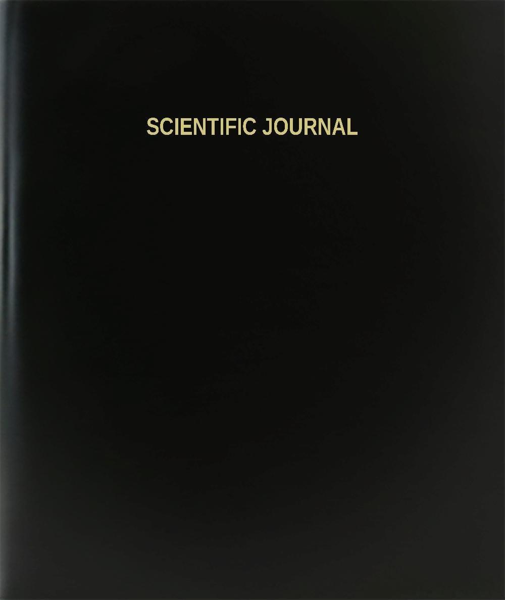"BookFactory® Scientific Journal Log Book / Journal / Logbook - 120 Page, 8.5""x11"", Black Hardbound (XLog-120-7CS-A-L-Black(Scientific Journal Log Book))"