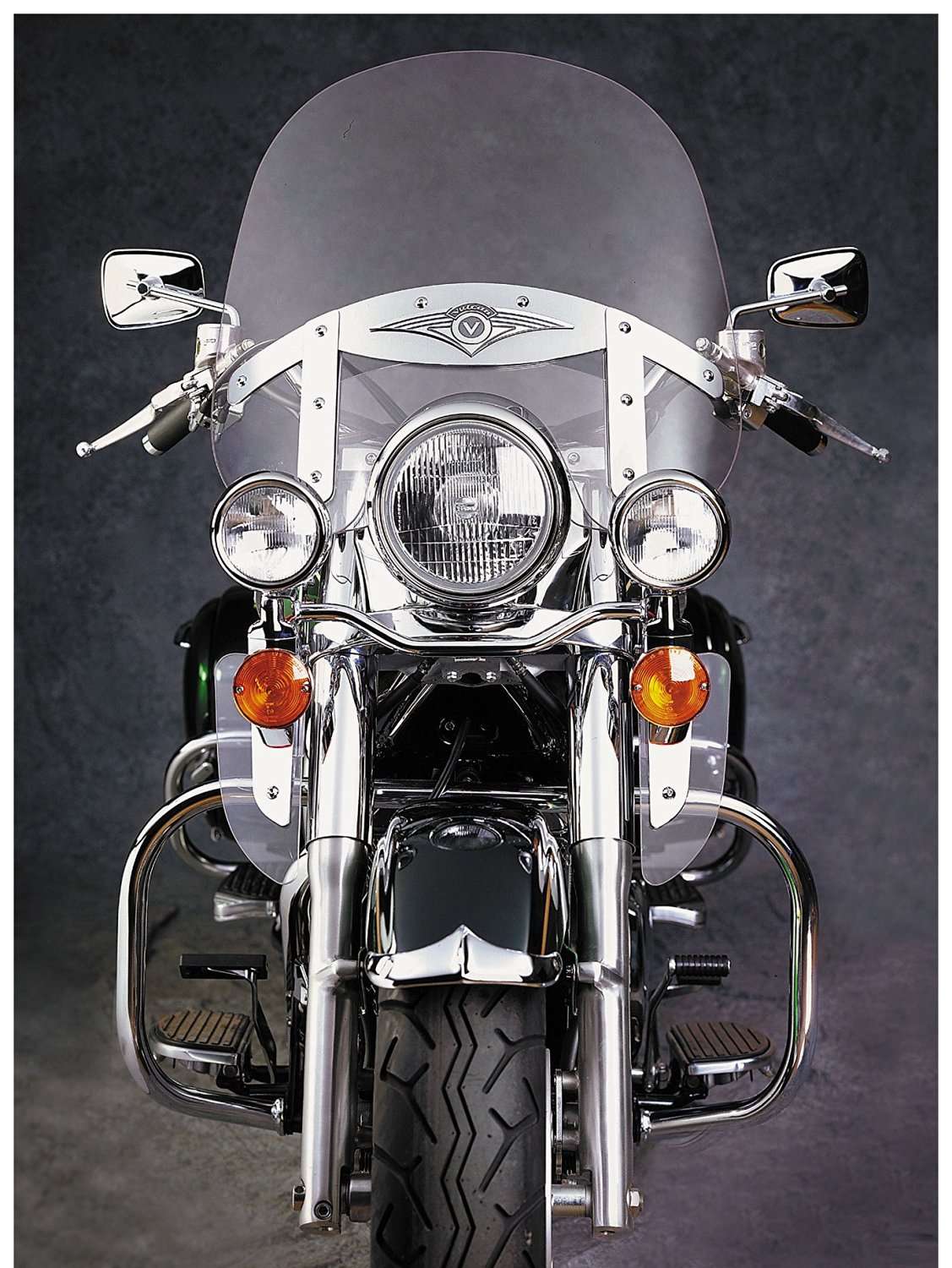 National Cycle Front Chrome Fender Tip for Kawasaki 1996-2008 VN1500D/N/E Vulca - One Size