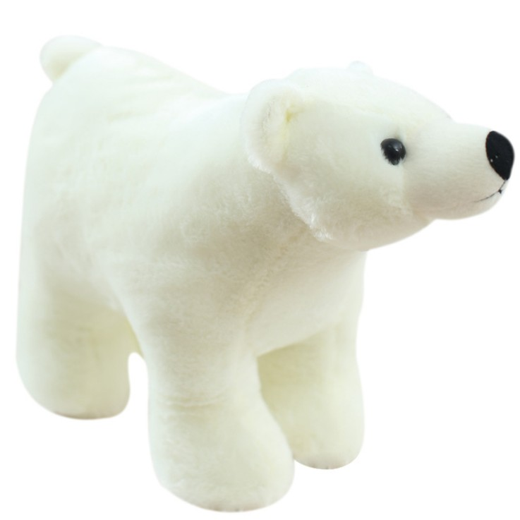 OEM Factory Wholesale Plush Polar Bear Doll Simulation Soft White Bear