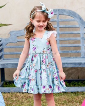 Sue Lucky Summer Sleeveless baby kids frock design picturesbf girl bur photo latest dress designs for flower girls