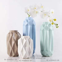 Factory Wholesale fashion cheap interior Antique decorative Geometric ceramic flower vase