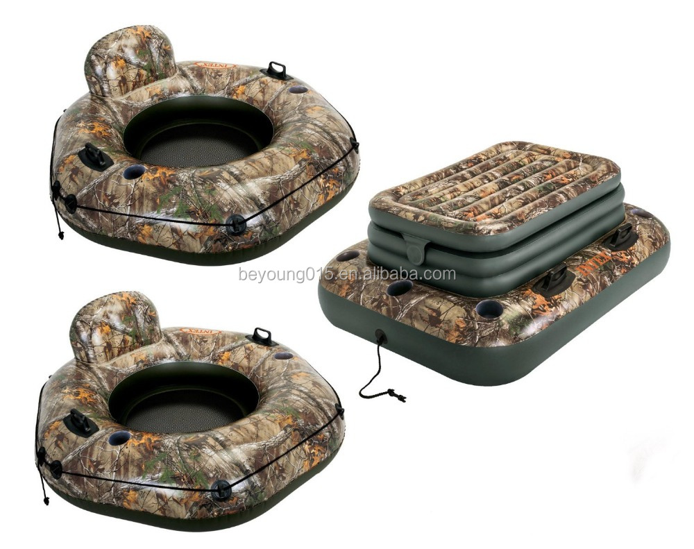 Intex Realtree River Run Tube Inflatable Floating Lounge Raft 2-pack And  Cooler - Buy Inflatable Floating Lounge,Realtree Inflatable Cooler,River  Run