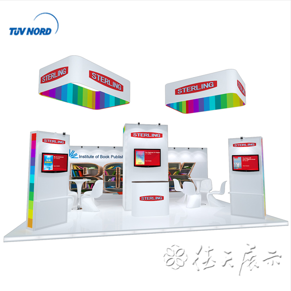 Beautiful trade show standard booth exhibition