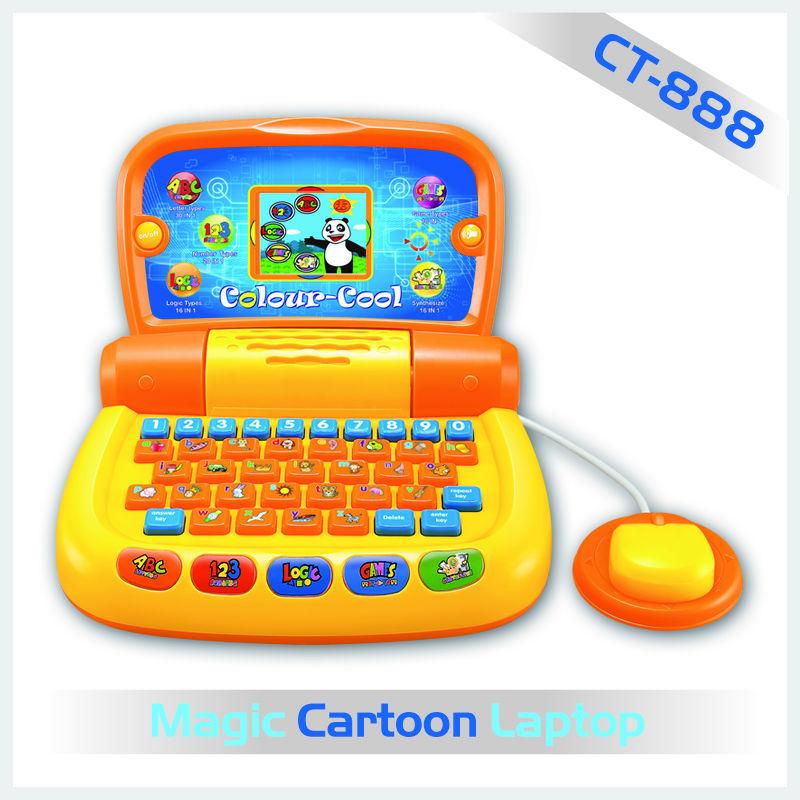 farbbildschirm laptop mit tastatur und maus f r kinder. Black Bedroom Furniture Sets. Home Design Ideas