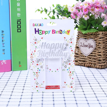 High Quality Silver Glitter Powder Happy Birthday Candles Party