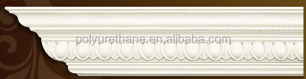 High quality polyurethane moulding HD A051 pu exterior window cornice design for home interior Classic Decorative PU cornice