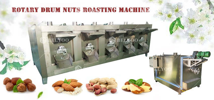 Home peanut toaster gas beans pepper small nut portable peanut roaster continuous peanut roasting machine