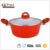 Forged Aluminum Cookware Ceramic Casserole Red Double Ears Saucepot with Lid