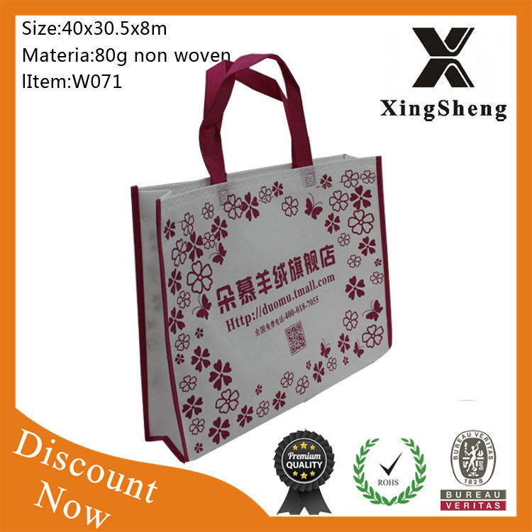 Fashionable high quality waterproof High quality waterproof fashion non-woven custom reusable folding shopping bags