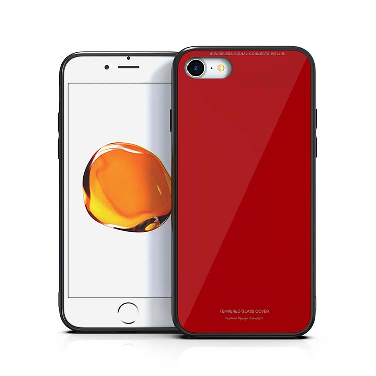 2018 Hottest Noble Temper Glass Phone Case For Apple iPhone 6 6 Plus 7 7Plus 8 8 Plus X Cell Phone Cover