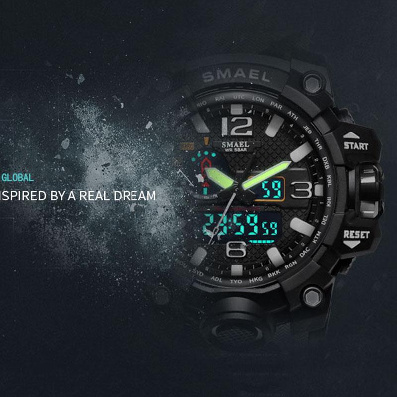 Smael 1545 Hot Sale Best Selling Smael Military Sport Watch Digital & Quartz Man Sport Wrist Watch